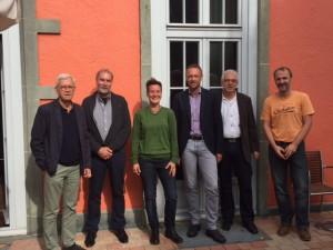von links nach rechts: Tom Johanssen, Herbert Dörmann, Tanja Koschinsky, Tobias Schmidt, Bernd Reschke, Wolfram Grahn